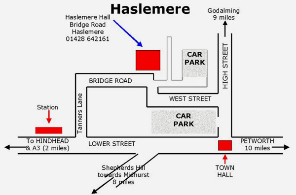 Haslemere Hall Map