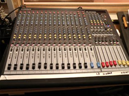 Allen & Heath desk at Haslemere Hall