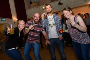 Crowd and atmosphere at the Haslemere Beer Festival 2016