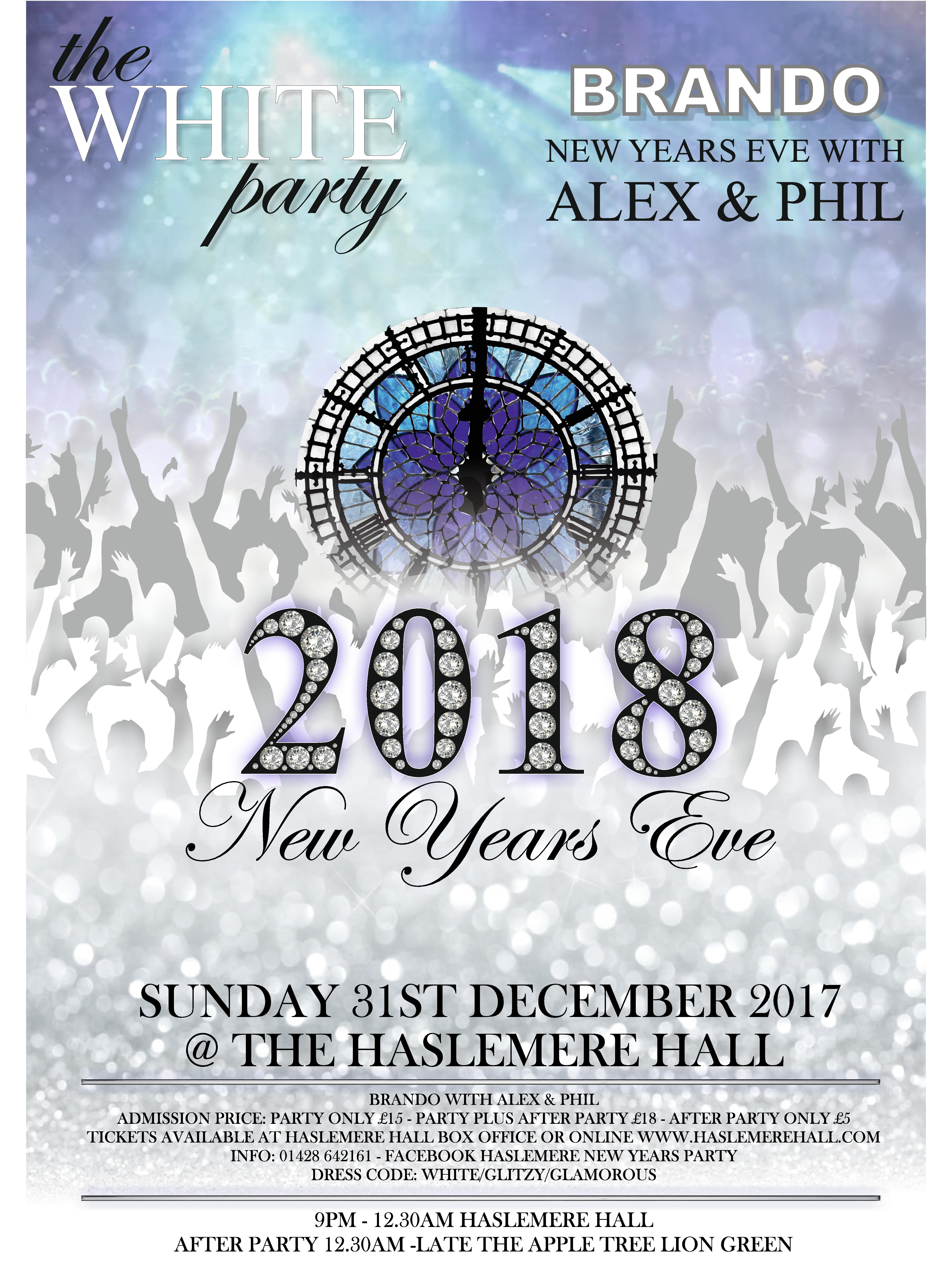 NEW YEAR\'S EVE PARTY 2017 | Haslemere Hall, Surrey
